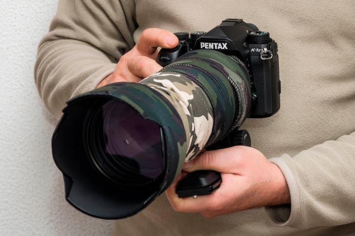 Sigma 50-500mm montado en la Pentax K-1 Mark II
